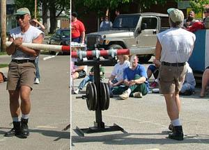 Conan's wheel with 400 for 168 feet  at Xenia Strongman May 2006