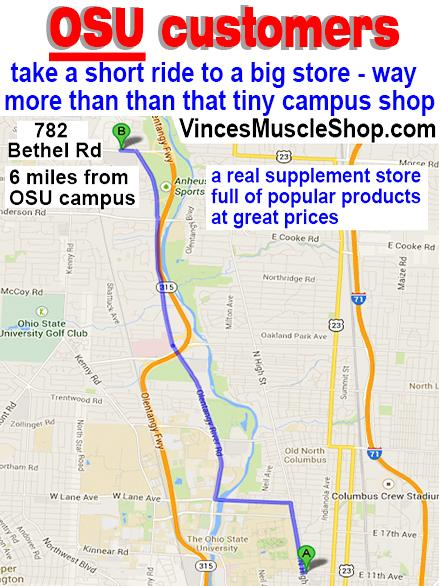 OSU ohio state university supplements - more products at better pricest han that little campus shop