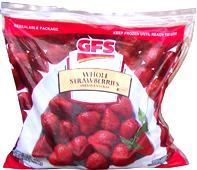 GFS frozen UNsweetened strawberries